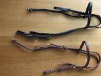 misc headstall leather $25. , leather reins $20. and