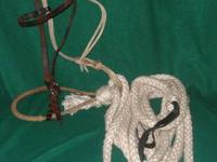pic 1 Basal Hackamore with fiador and white cotton
