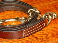 Gatsby - new leather lead rope- Havana/dark oil - 7'