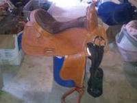 "For sale is a brand new 16"" seat, basket weave tooling"
