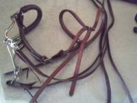 Selling horse Hackamore with bridle and rein for