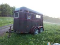 1986 Glick Two Horse Trailer , lights work and floor is