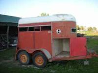 We have a 2 stall horse trailer in decent condition.