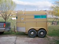 fully enclosed 1976 WW two horse trailer, tires like