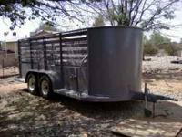 For sale is a bumper pull horse or livestock trailer,