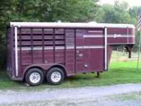 1991 BISON 2 HORSE TRAILER, STRAIGHT LOAD, GOOSENECK,
