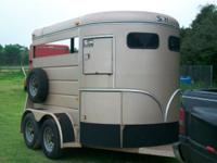 S & H 2 horse bumper pull trailer. Very good condition