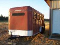 Solid well built horse trailer, four horse slant