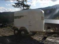 Good, lite, reliable little trailer. Tack area at