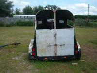 two horse trailer needs some body work pulls good