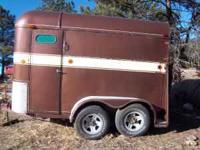 Two horse trailer, early 80s. Good floor and tires. no