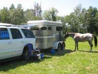 Circle J -- Two Horse Bumper Pull Trailer -- ALUMINUM