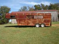 southern missouri gooseneck horse trailer, 3 horse