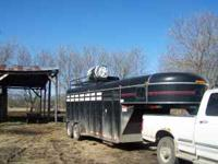 1996 S&S steel gooseneck stock/combo trailer. Fits up