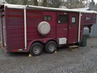 1 2 horse trailer with comfy LQ s. New