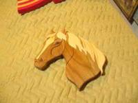 The horse made from butternut and pine. I can make them