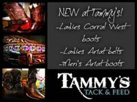 Stop in and visit us at Tammy's Tack and Feed to