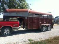 1996 12ft Goose Neck Calico Stock Trailer. One owner,