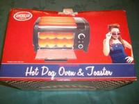 American Originals Hot Dog Oven & Toaster, Brand New