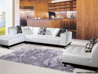 Max West 915 3 Pcs. Snow White MM Leather Sectional