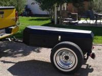Handmade coffin trailer on a model a rear axle, matte