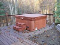 Like new 2-3 person hot tub. 5 year parts warranty.