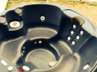 "5 person jacuzzi. 350 gallon. 80""x80"" round 34"" high."