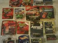 A collection of 22 Hot Wheel cars, 20 of which are