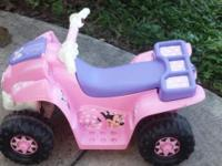I have 2 kids Hot Wheel quads. One is Minnie Mouse, the