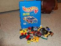 We have 82 cars and a case. The case holds 48 cars. The