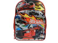 The Hot Wheels backpack, with free car, has hot wheels