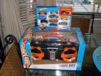 Mattel Hot Wheels Boom Box has AM-FM Stereo, CD player,