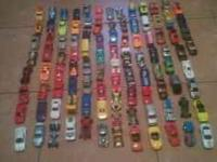 100 different types of cars and a box to hold them in.