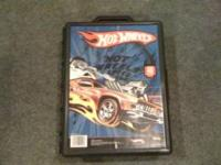 Hot Wheels car case with carrying handle. Pictured