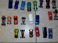 A collection of small cars with the date stamped on