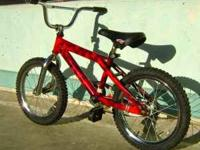 This is a Hot Wheels BMX bike for kids from about 4 to