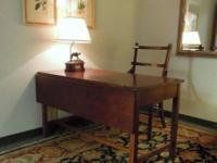 Versatile Desk/Table with drawer and drop leaf.