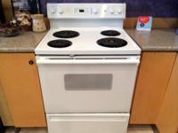 Hotpoint White Coil Top Electric Range Stove Oven