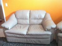 Got a 3 furniture set for sale, all beige leather.