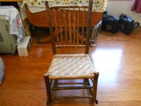 Antique Vintage Old Hickory Chair Co. Rocking Chair ,
