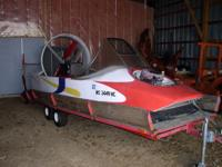 hovercraft and trailer  lift motor 131/2hp