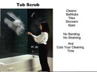 Tub Scrub is an adjustable 34-60 inch long brush which