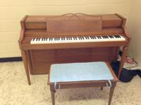 Howard spinet piano by Baldwin for sale. Made in late