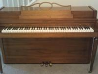 Baldwin spinet piano and matching bench. Tuned up. My