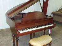 Howard Cabinet Grand Piano with Padded Bench Seat, some