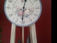 "Modern, vintage Howard Miller ""garden Room"" clock, a"