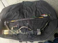 Hoty mt 2000 bow 27 inch draw, has 2 sights fall away