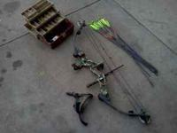For sale is a Hoyt Deviator bow. Its set at 75lbs draw
