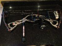 "2012 Hoyt Rampage XT Right hand, Set at 70lb and 29""."