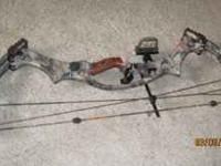 2005 Hoyt Trkyon RH compound bow. 50-60# draw weight,
